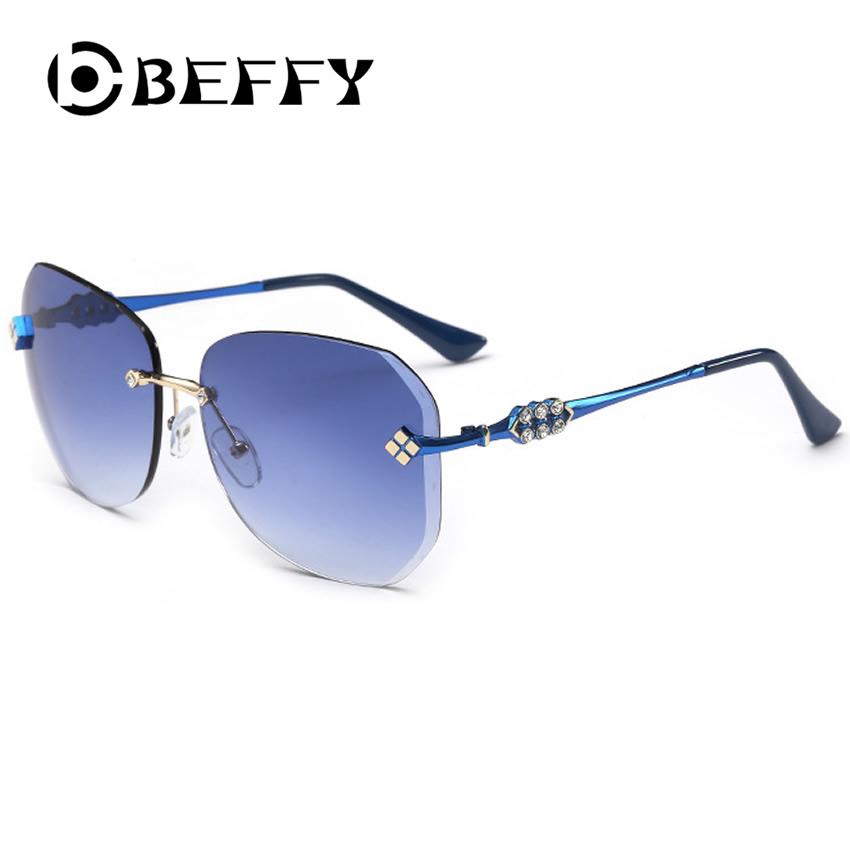 BEFFY Luxury Diamond Decor Sunglasses Women Fashion ...