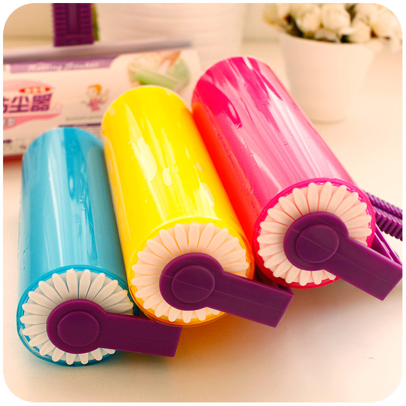 Portable water wash clothes sticky lint roller wool device dust drum sticky wool brush suction wool brush cycle(China (Mainland))