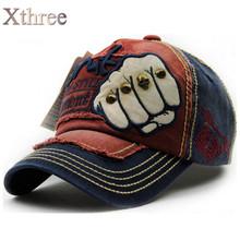 XTHREE unisex fashion men's Baseball Cap women snapback hat Cotton Casual caps Summer fall Hat for men cap wholesale(China (Mainland))