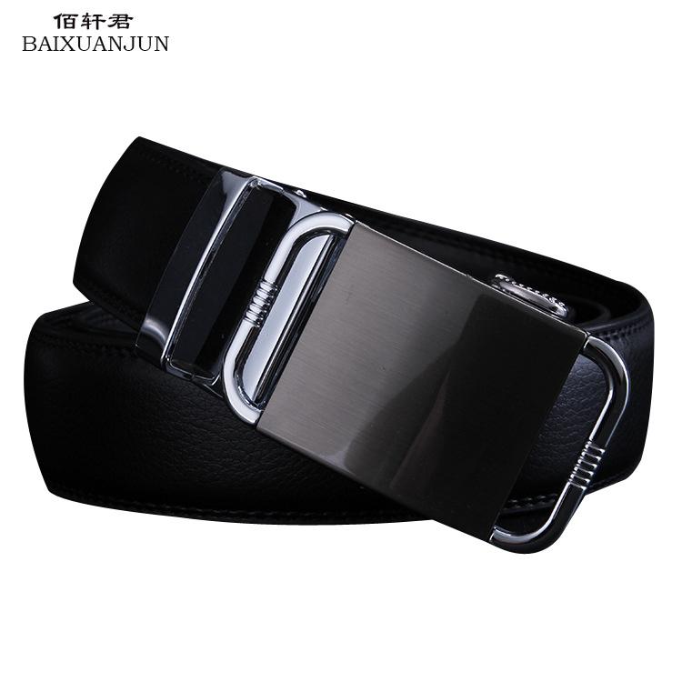 [BAIXUANJUN]2016 New men's automatic belt buckle leather belt fashion leisure wild genuine leather belt(China (Mainland))