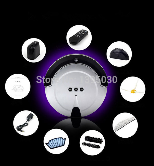 Free DHL1PC KRV208 Intelligent Household Ultra-Thin Robot Smart Efficient Automatic Vacuum Cleaner(China (Mainland))