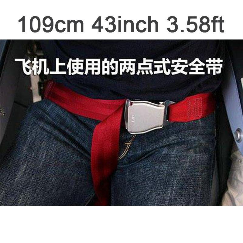 Most popular 109cm 43inch 3.58ft Adjustable Airplane seat belt extended red(China (Mainland))