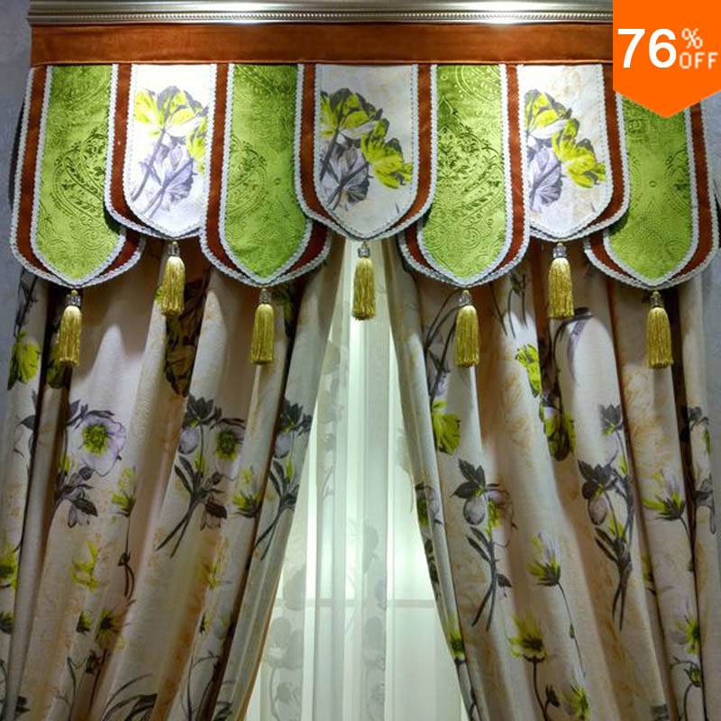 Green Mountain Top Velvet flowers curtains gentle and soft Classic design living room bedroom Curtain Dinning Room Hotel Curtain(China (Mainland))