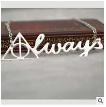 #577 Euro-American Movie Jewlery Harry Potter The Deathly Hallows Pendant Necklace Vintage Triangel Neckalce New Design