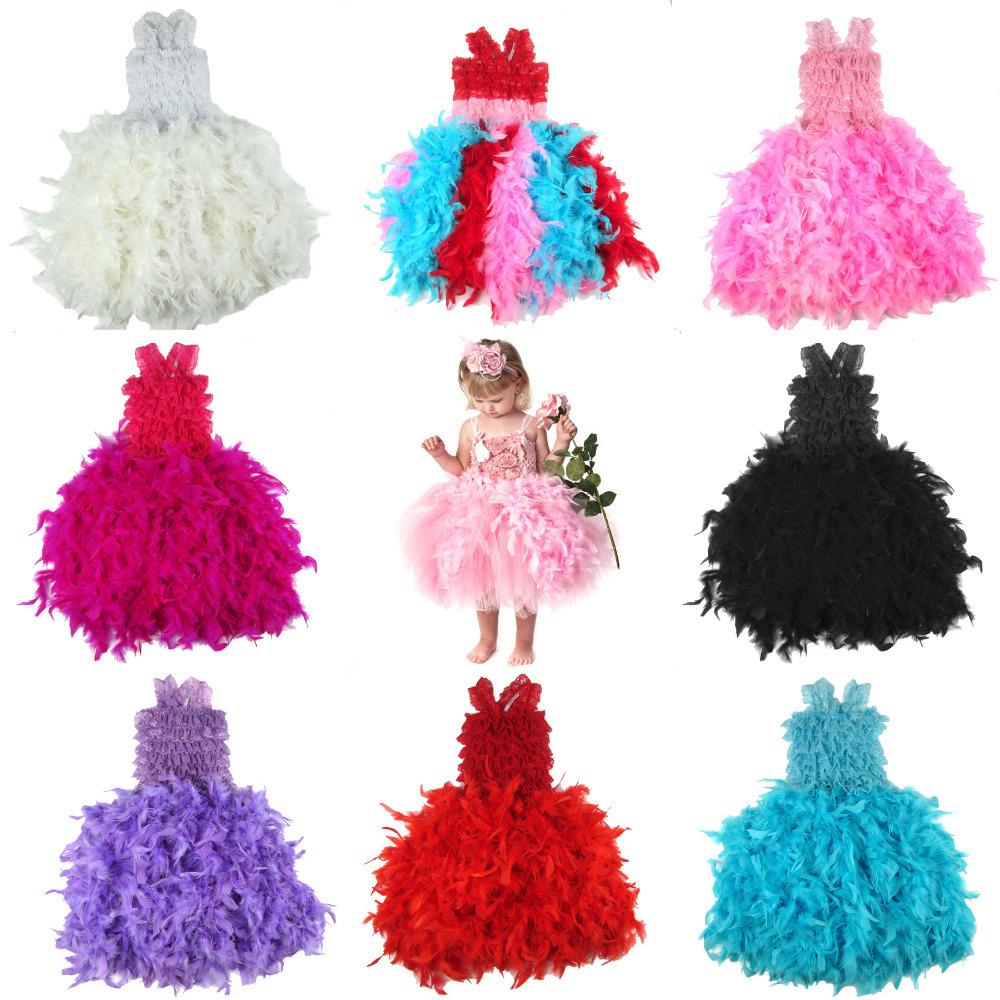 Tutu dress kids girl party clothing children holiday christmas dress