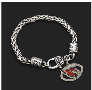10pcs unsex couple fashion Jewelry NFL Saint Louis Cardinal team logo Alloy Drip sports fan men Crude Chain Bracelets(China (Mainland))