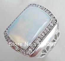 6colors! red/green jade/moonstone/tiger eye stone/turquoise/red/black agate ring(China (Mainland))