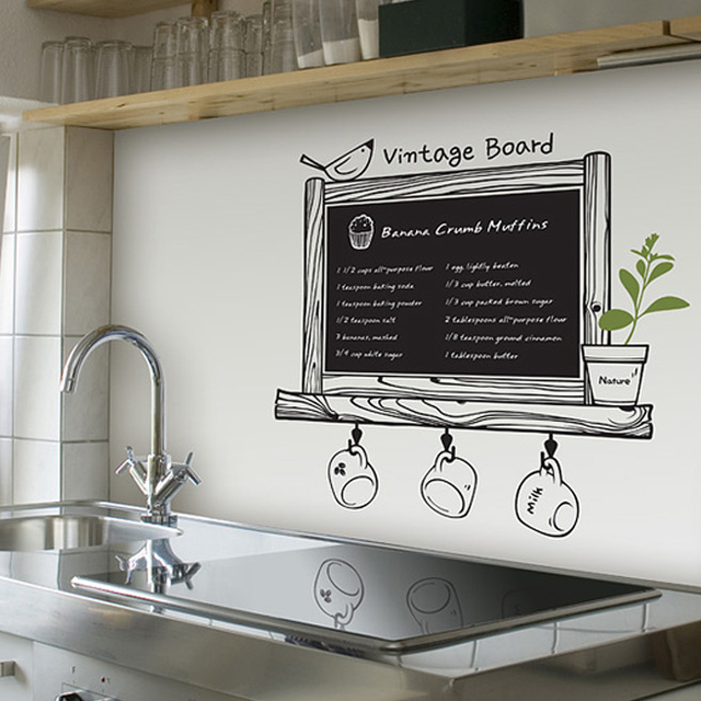 Blackboard stickers line wall stickers Large film child message board chalk