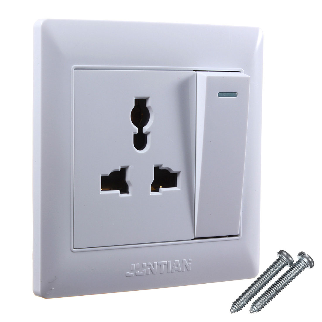 Best Promotion 10A 3 Pin Power Single Gang Wall Outlet Switch Socket Plate Panel US/EU/UK Plug Electrical Power Sockets switches(China (Mainland))