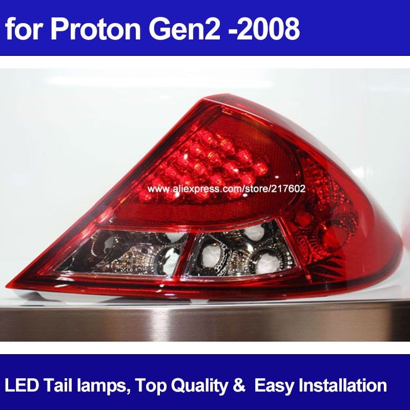 Top Quality Auto Car LED Rear Ligths for 2008 Proton Gen2 LED Rear lights for Refit, Cool Style ! Easy Installation(China (Mainland))