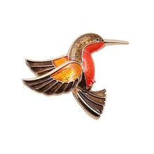 Free shipping Fashion brand new enamel glaze hummingbird stereo brooch jewelry sets(China (Mainland))