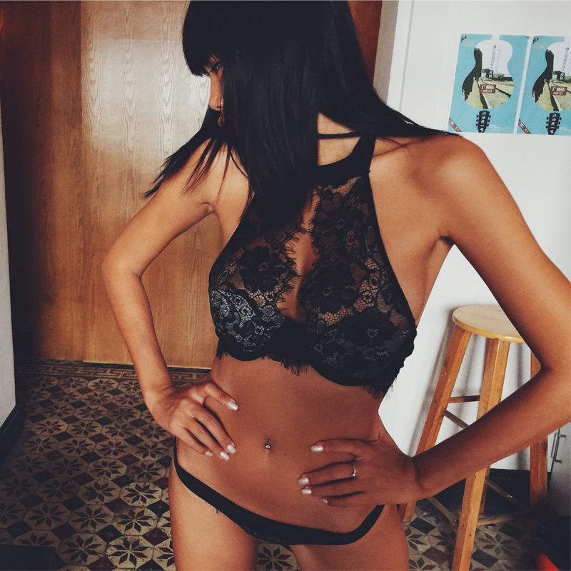 Elina's 2016 woman lace bra set lingerie transparent bra bayan sutyen underwear ensemble soutien gorge ropa interior mujer(China (Mainland))