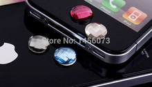 100pcs Acrylic Rhinestone Stickers cabochon Bling Diamond home button sticker for Apple iPhone crystal 5 4S 4 4G 3GS 3G PT9006(China (Mainland))