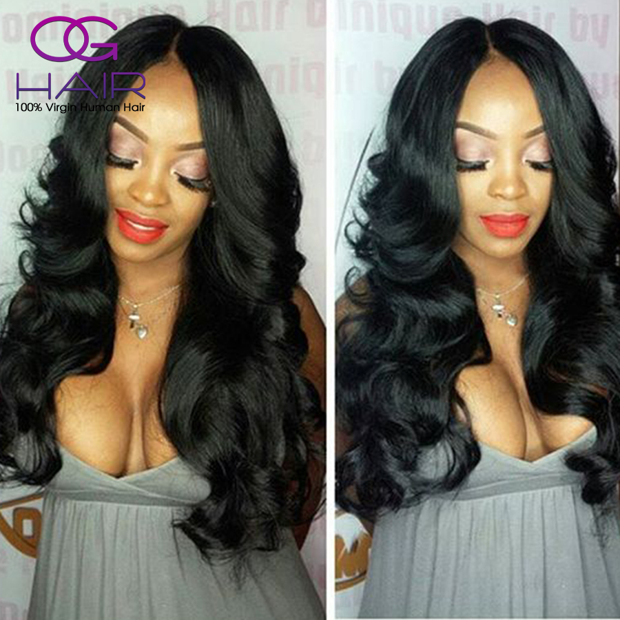 100% Virgin Peruvian Full Lace Wigs/Lace Front Wigs Unprocessed Body Wave Human Hair Wigs Baby Hair For Black Women<br><br>Aliexpress