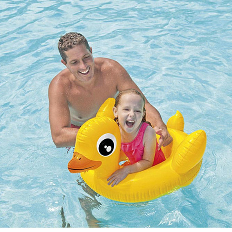 2015 Baby inflatable swim ring duck and snail children swimming Seat Ring floating ring seat Air Float Boat Children's day Gift(China (Mainland))