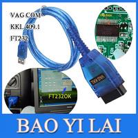 2015 Vag com VCDS Fidi FT232 FT232RL Chip Vag-Com 409.1 KKL OBD 2 USB VAG409.1 Cable Scanner Interface For Audi/VW/Skoda/Seat