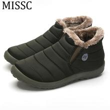 MISSC 2017 Unisex Botas Para la Nieve de Invierno de Piel Caliente Zapatos de Moda Frío Botines Comfort Shoes Tallas 35-45 MBS585(China (Mainland))