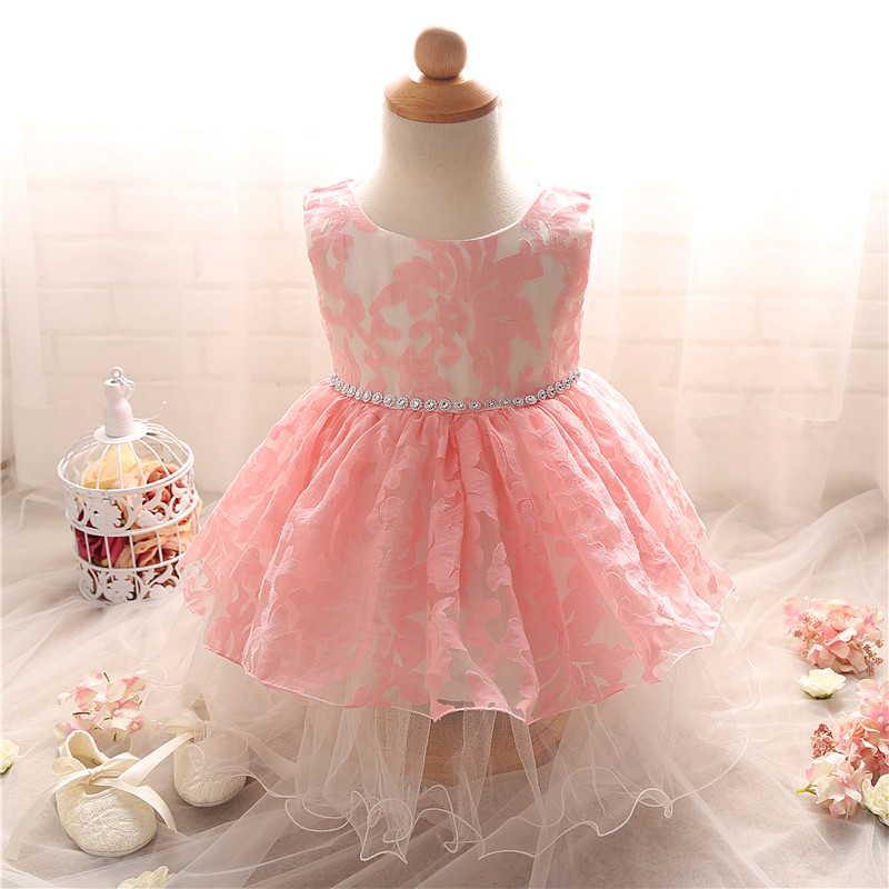 High Quality Baby Girl Christening Dress 1 year Birthday Dress For Baby Girl 2016 Kid Lace Princess Tutu Dresses Infant Of 2Yrs(China (Mainland))