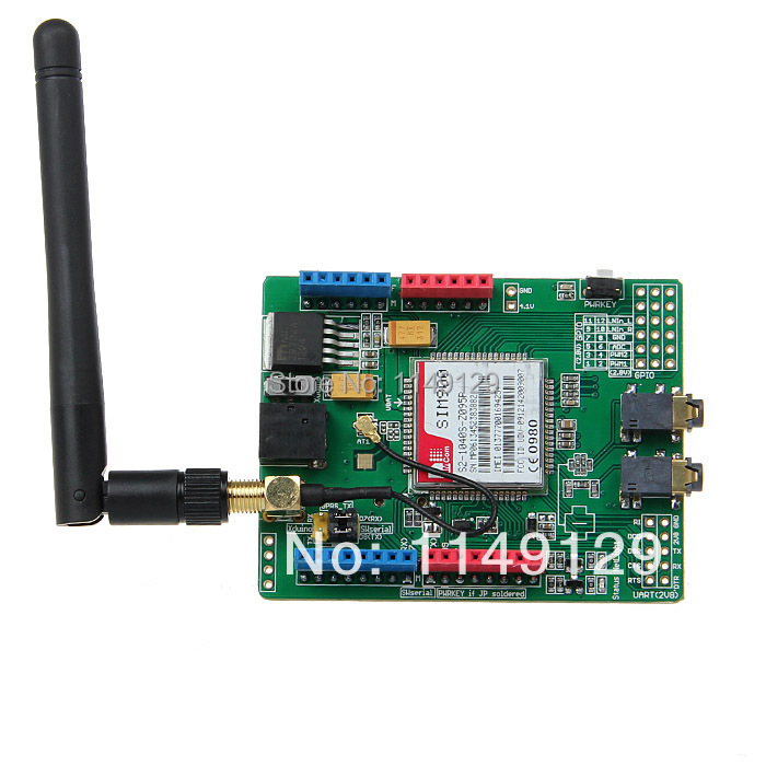 Hot Sale! Geeetech SIMCOM SIM900 Module Quad Band Wireless GSM/GPRS Shield Development Board For Arduino Free Shipping!(China (Mainland))