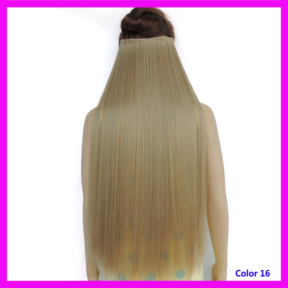 apliques de cabelo sintetico presilha hair extensions clip in synthetic japanese fiber long hair extension accessories color 16(China (Mainland))