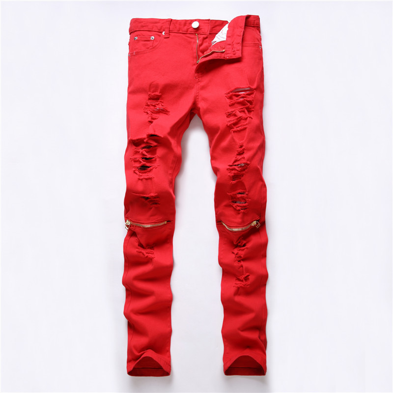 High Quality Skinny Jeans Red-Buy Cheap Skinny Jeans Red lots from