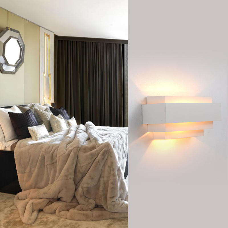 Modern round led Wall Lights up down light Living Bedroom wall mounted beside light led Bathroom luminaire Wall Sconce Lamps(China (Mainland))
