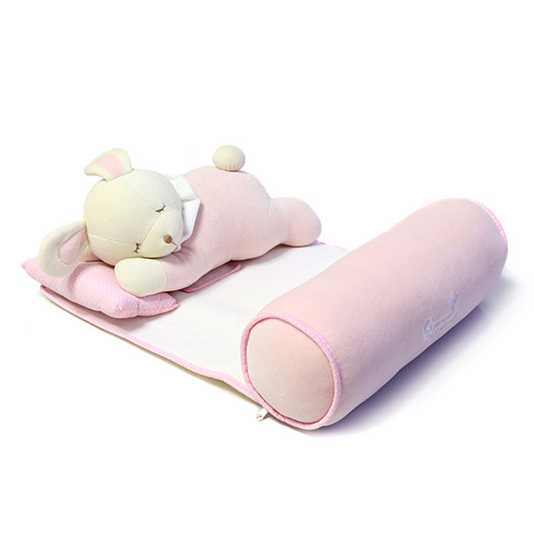 0-3 years Newborn baby pillow Manufacturer multifunctional neck protection child bedding set sound asleep pillow with cartoon child toys (1)