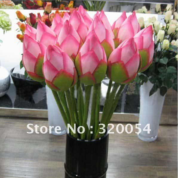 Free shipping lotus high grade silk flower artificial for Artificial flowers decoration home