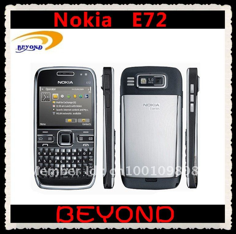 100% Original Nokia E72 unlocked 3G GSM mobile phone WIFI GPS QWERTY 5MP free shipping Refurbished(China (Mainland))
