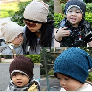 free shipping reatil and wholesale 2015 autumn fashion women caps winter hat for baby and adult