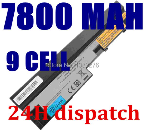 7800mAh laptop battery for Lenovo IdeaPad S100 S10-3 S205 S110 U160 S100c S205s U165 L09S6Y14 L09M6Y14 9cells(China (Mainland))