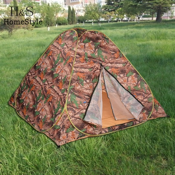 Outdoor camouflage camping tent portable tente quick open army style 2-3 people tent(China (Mainland))