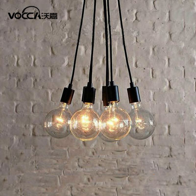 lampe suspension contemporaine edison chandelier light plafond suspendu 7 ampoules fixture. Black Bedroom Furniture Sets. Home Design Ideas