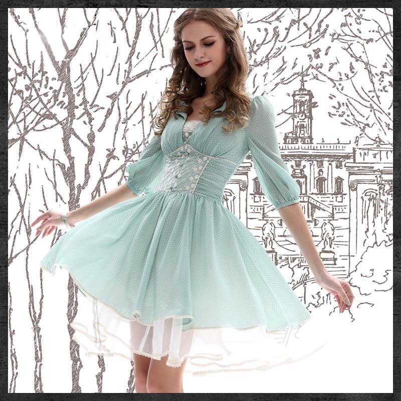 Очаровательное летнее платье, выполненное в винтажном стиле, Summer Dress Yuzi