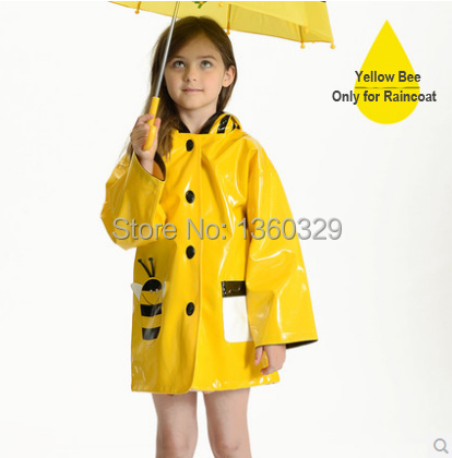 Japanese Style Thickening Cartoon font b burberry b font kids Raincoat Yellow Red Green Poncho with
