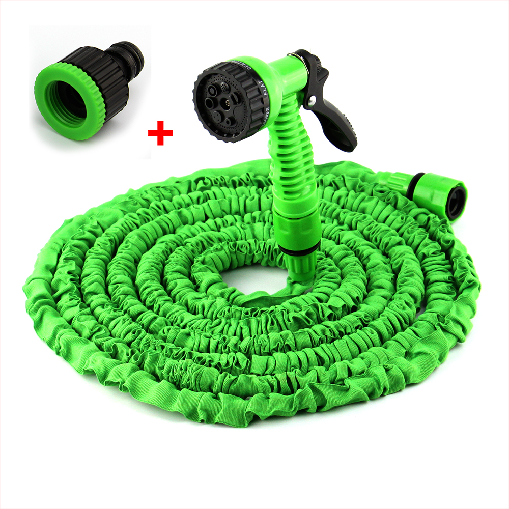 Expandable flexible 25/50/75/100ft magic water hose pipe with spray nozzle gun garden hose retractable water pipe European joint(China (Mainland))