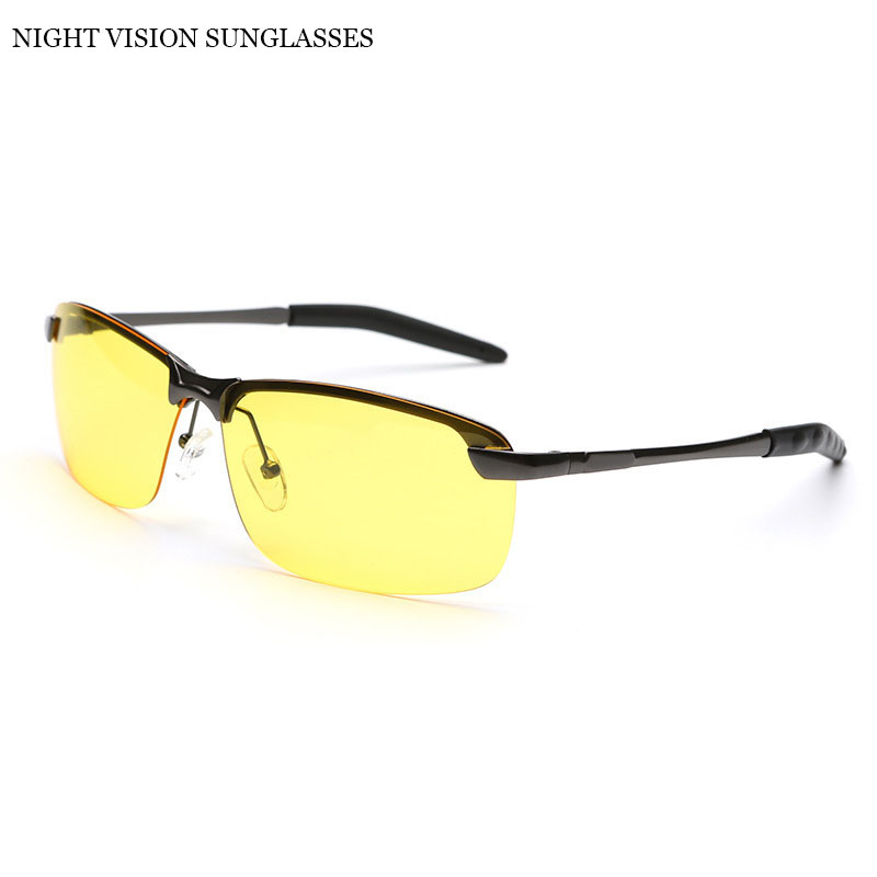 Best Polarised Yellow Driving Sunglasses at Night High Quality HD Vision Day Night Sunglasses Polarized Safety Glasses 3043(China (Mainland))