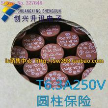 T6.3A250V T6.3A new cylindrical fuse monitor board commonly used LCD TV(China (Mainland))