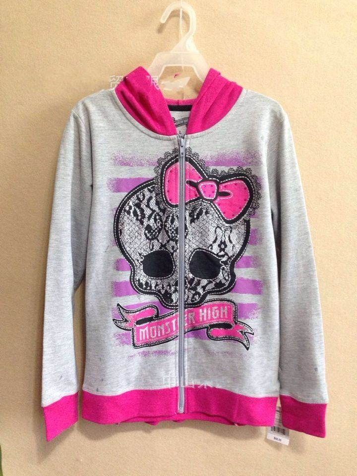 Retail New 2015 Monsters High Girls Jackets children clothing conjunto menina 2colors 7-16Y B0229 - Miss Sunshine Co., Ltd store