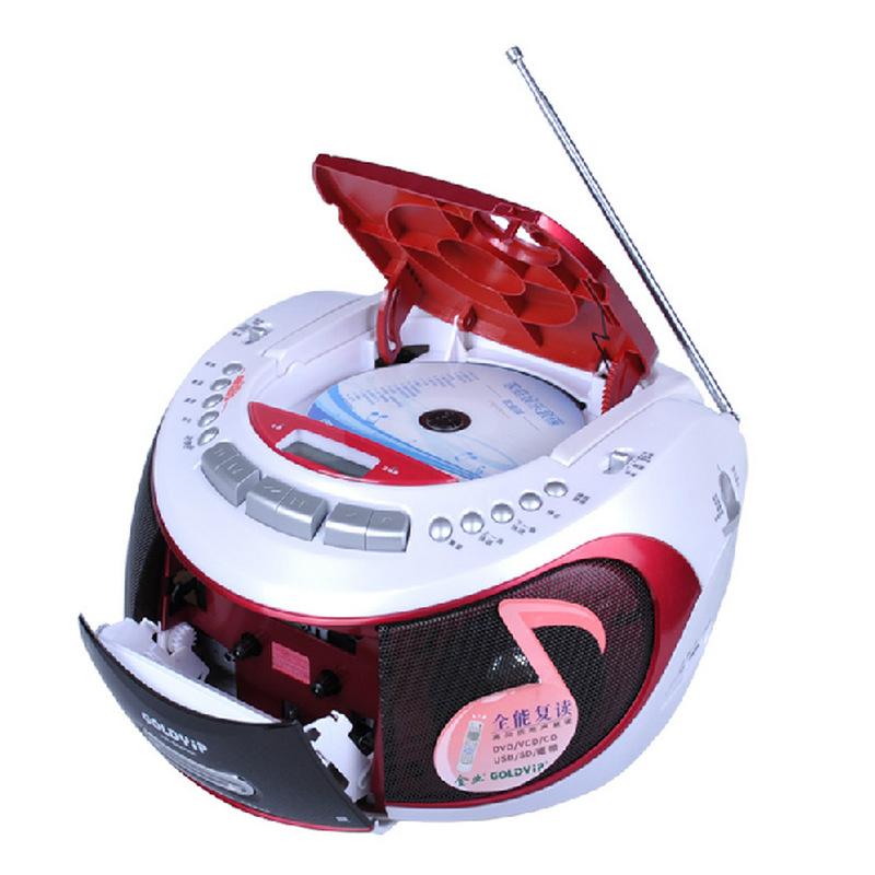 Portable Audio free shipping 2015 new hot Portable dvd CD player USB SD player radio cassette recorder tape prenatal machine(China (Mainland))