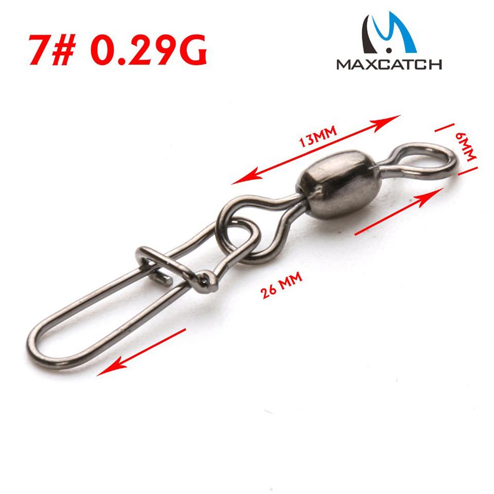Maximumcatch 50Pcs Crane Fishing Swivel With Nice Safe Snap Size 4 and Size 7# Fishing Tackle Box(China (Mainland))