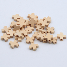 Buy 50pcs Natural Wood Beads Cross Jewelry Baby DIY Kids Toys Makeing Bracelet Necklace Spacer Beading Wooden Beads for $1.64 in AliExpress store