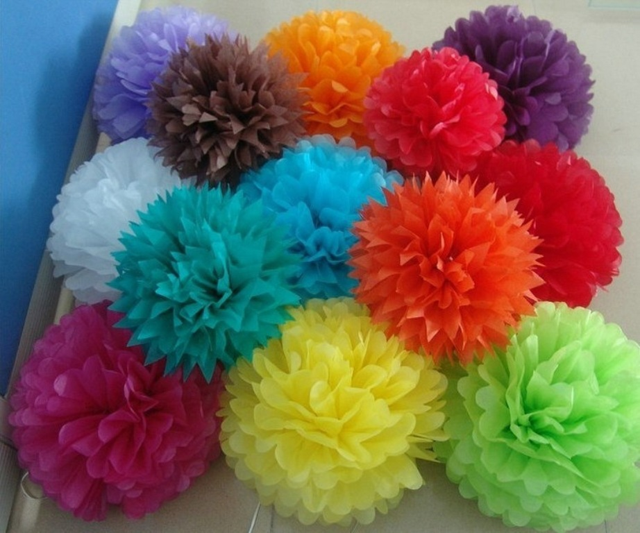 50 Sheets Mix Colored Tissue Paper Gift Wrapping Flower Wedding Party Decoration DIY Pom Supplies - E-packing store