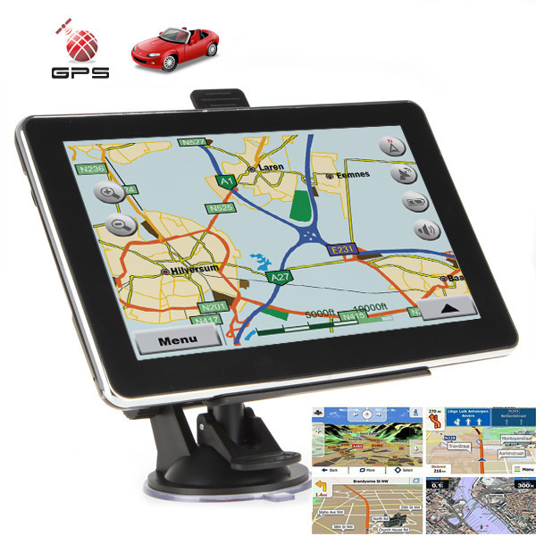 Hot Sale 7 inch GPS Navigation Bluetooth System Car GPS Navigation System Navigator FM Transmit Function with Built-in4G Memory(China (Mainland))