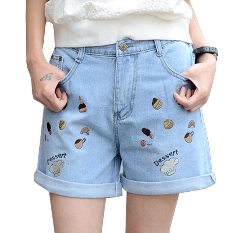 Uwback 2016 new summer brand shorts women harem denim fitness plus size shorts femme jeans elastic Dessert shorts girls TB1051(China (Mainland))