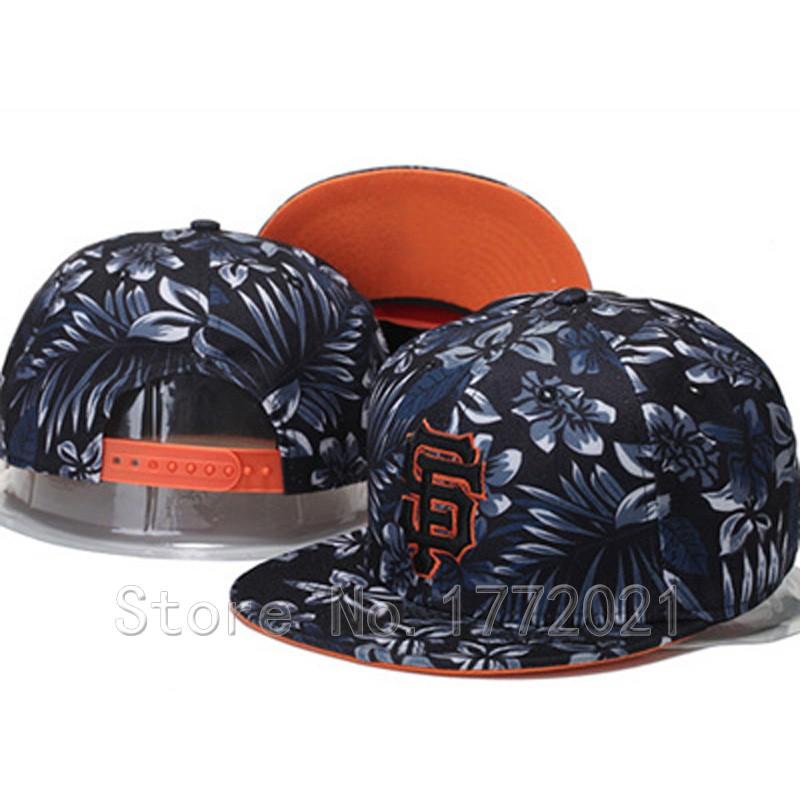 Men's SF adjustable baseball sport team hats Night Tropic print San Francisco Giants snapback caps(China (Mainland))