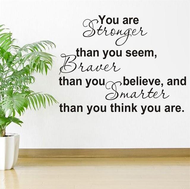 Вы сильнее вы , кажется , вдохновляющие цитаты 8061 украшение съёмный винил стена наклейка отличительные знаки