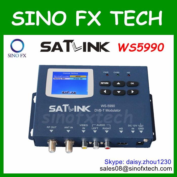MPEG2 DVB-T modulator satlink ws 5990