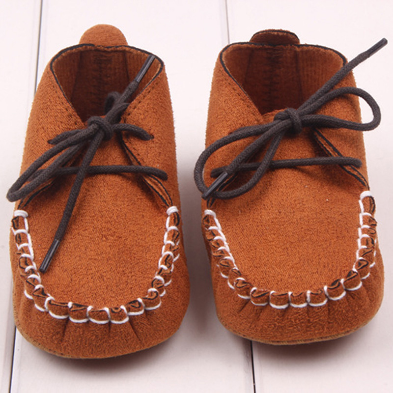New Brand Fashion Baby Boy Shoes Soft Nubuck Leather Baby Shoes First Walkers 0-12M(China (Mainland))