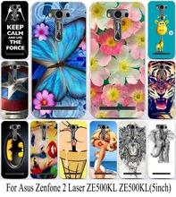Телефон для Asus Zenfone2 Zenfone 2 лазерная ZE500KL ZE500KG 5 дюймов чехол красочные жесткий пластиковый кожи